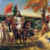 """EUGÈNE FERDINAND VICTOR DELACROIX: """"Marokkanischer Scheich besucht seinen Stamm"""";1837, Öl auf Leinwand, 99 × 127 cm;Nantes, Musée des Beaux-Arts."""