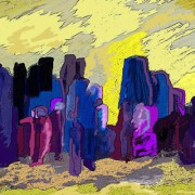 Komplementärkontrast Gelb-Violett