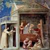 """GIOTTO DI BONDONE: Freskenzyklus in der Arenakapelle in Padua (Scrovegni-Kapelle),Szene: """"Maria Geburt"""";1304–1306, Fresko;Padua, Cappella degli Scrovegni all'Arena."""