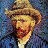 """VINCENT VAN GOGH: """"Selbstporträt mit grauem Filzhut"""";1887–1888, Öl auf Leinwand;Amsterdam, Van Gogh Museum.(kleine Striche)"""
