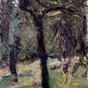 """RICHARD GERSTL: """"Sonnige Wiese mit Obstbäumen"""";um 1908, Öl auf Leinwand;Wien, Sammlung Leopold.(plastische Struktur)"""