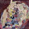 "Dekorativ wirkende Linien:GUSTAV KLIMT: ""Die Jungfrau"";1912–1913, Öl auf Leinwand, 190 × 200 cm;Prag, Národni Galerie."