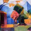 """AUGUST MACKE : """" Garten am Thuner See"""";1913, Kunstmuseum Bonn"""