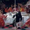 """EL GRECO: """"Das Letzte Abendmahl"""";1596; Bologna, Pinacoteca Nazionale(senkrechte Mittelachse)"""
