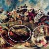 """PETER PAUL RUBENS: """"Amazonenschlacht"""";um 1619; München, Alte Pinakothek.(große und kleine Ellipsen als Kompositionsfiguren)"""