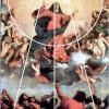"""TIZIAN: """"Maria Himmelfahrt"""",Hochaltar für Sankt Maria Gloriosa dei Fari in Venedig;1516–1518; Venedig, Santa Maria Gloriosa dei Frari.(Mittelsenkrechte, Kreis, Dreieck als Kompositionsfiguren)"""