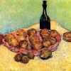 """VINCENT WILLEM VAN GOGH: """"Stilleben mit Flasche, Zitronen und Orangen"""";1888, Öl auf Leinwand, 53 × 63 cm;Otterlo, Rijksmuseum Kröller-Müller."""