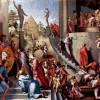 JACOPO PONTORMO: Gemälde für das Hochzeitszimmer des Pier Francesco Borgherini im Familienpalast in Florenz, Szene: Joseph in Ägypten;1517–1518, Öl auf Leinwand, 44 × 49 cm;London, National Gallery.