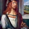 ALBRECHT DÜRER: Selbstporträt;1498, Holz, 52 × 41 cm;Madrid, Museo del Prado.