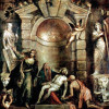 "TIZIAN: ""Pietà"";um 1576, Öl auf Leinwand, 353 × 348 cm;Venedig, Gallerie dell'Accademia."