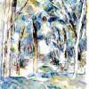"""PAUL CÉZANNE: """"Baumallee"""";1906, Aquarell über Bleistift, auf weißem Papier, 616 × 457 mm;New York, Sammlung Pearlman;Land: Frankreich, Stil: Postimpressionismus."""