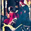 "GEORGE DE LA TOUR: ""Beweinung des heiligen Sebastian durch Irene"";1650; Berlin, Gemäldegalerie."