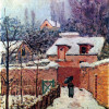 "ALFRED SISLEY: ""Garten im Louveciennes im Schnee"";1874; Washington (D.C.), Philips Memorial Gallery."