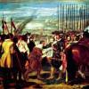 """DIEGO VELÁZQUEZ: """"Übergabe von Breda"""";1634–1635, Öl auf Leinwand, 307 × 367 cm;Madrid, Museo del Prado."""