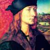"ALBRECHT DÜRER: ""Porträt des Hans Tucher"";1499, Holz, 28 × 24 cm;Weimar, Staatliche Kunstsammlungen."