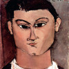 "AMADEO MODIGLIANI : ""Porträt der Moiise Kiesling"";1915, Mailand, Sammlung Emilio Jesi"