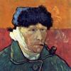 """VINCENT VAN GOGH: """"Selbstporträt mit abgeschnittenem Ohr"""";1889, Öl auf Leinwand, 51 × 45 cm;Chicago, Sammlung Mr. und Mrs. Leigh B."""