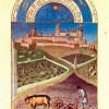 "Brüder LIMBURG (POL, HENNEQUIN UND HERMAN VON): ""Très Riches Heures du Duc Jean de Berry""(""Stundenbuch des Herzogs von Berry""), Szene: ""Monatsbild März"";1412–1416, Pergament, 22 × 13,5 cm;Chantilly, Musée Condé."