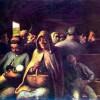 "HONORÉ DAUMIER: ""Wagen dritter Klasse"";1862, Öl auf Leinwand, 67 × 93 cm;Ottawa, National Gallery of Canada."