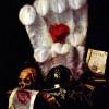 """JURIAEN VAN STREECK: Stillleben (""""Vanitas"""");um 1670, Öl auf Leinwand, 98 × 84 cm;Moskau, Puschkin-Museum der bildenden Künste."""