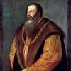 PIETRO ARETINO (1492–1556);Gemälde von TIZIAN;um 1548, Öl auf Leinwand, 99 × 82 cm;New York, Frick Collection.