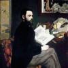 ÉMILE ZOLA (1840–1902);Gemälde von EDOUARD MANET;1868, Öl auf Leinwand, 146 × 114 cm;Paris, Musée d'Orsay.