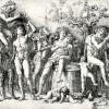Bacchanal mit Silenos, Entwurf: ANDREA MANTEGNA, Ausführung: ANDREA MANTEGNA, um 1494,Kupferstich, 327 x 450 mm, Paris, Bibliothèque Nationale, Cabinet des Estampes