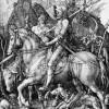 Ritter, Tod und Teufel, Entwurf: ALBRECHT DÜRER, Ausführung: ALBRECHT DÜRER, 1513,Kupferstich, 250 x 190 mm, Privatsammlung