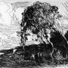 Venus stutzt Amor die Flügel, Entwurf: JEAN-BAPTISTE-CAMILLE COROT, 1869–1870,Radierung und Kupferstich, 240 x 160 mm, Paris, Bibliothèque Nationale, Cabinet des Estampes