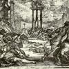 Gemetzel unter dem zweiten Triumvirat, Entwurf: CLAUDE VIGNON, Ausführung: CLAUDE VIGNON, 1. Hälfte 17. Jh., Radierung, 257 x 355 mm, Wien, Graphische Sammlung Albertina