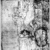 """GUSTAV KLIMT: Entwurf für den ersten Zustand des Facultätsbildes """"Medizin"""";1900–1907, Schwarze Kreide, Bleistift, Raster, auf Papier; 860 x 620 mm;Wien, Graphische Sammlungen Albertina."""
