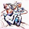 EDGAR DEGAS: Ballettänzerinnen in Halbfigur, um 1896–1899,Pastell auf Papier, New York, Privatsammlung,