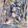 PAUL CÉZANNE: Baumallee,1906,Aquarell über Bleistift, auf weißem Papier, 616 × 457 mm, New York, Sammlung Pearlman,