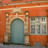 Farbanstrich auf Ziegelstein: Schabbelhaus in Wismar: Renaissance