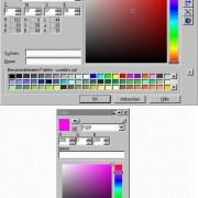 Dialogfenster zum Definieren von Farben für Umriss und Füllung von Objekten in Zeichenprogrammen