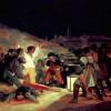 """FRANCISCO DE GOYA Y LUCIENTES: """"Erschießung der Aufständischen am 3. Mai 1808 in Madrid"""";1814, Öl auf Leinwand, 266 × 345 cm;Madrid, Museo del Prado."""
