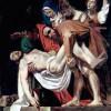 "MICHELANGELO CARAVAGGIO: ""Grablegung Christi"";1602–1604, Öl auf Leinwand, 300 × 203 cm;Rom, Pinacoteca Vaticana."