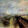 """WILLIAM TURNER: """"Rain, Steam, Speed – The Great Western Railway""""(""""Regen, Dampf, Geschwindigkeit – Die Great Western Eisenbahn"""");1844, Öl auf Leinwand, 91 x 122 cm;London, National Gallery."""
