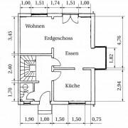 Grundriss einer Wohnung – Erdgeschoss