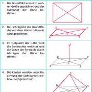 Schrägbild einer rechteckigen Pyramide