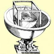 """Keplers """"Weltgeheimnis"""" – eine Darstellung von Planetensphären, eingepasst in reguläre Körper"""