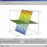 3D-Darstellung: Schnitt zweier Ebenen