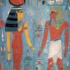"""Die Wandmalerei zeigt die """"Goldene"""" Göttin HATHOR (Grab des HAREMHAB, Tal der Könige, Ägypten)."""
