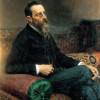 NIKOLAJ ANDREJEWITSCH RIMSKIJ-KORSAKOW (1844–1908) auf einem Gemälde von ILJA JEFIMOWITSCH REPIN aus dem Jahr 1893