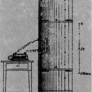 Früher Sender für hertzsche Wellen (eigenhändige Zeichnung von H. Hertz)