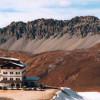 Verwitterung von Gestein im Gebirge durch Eissprengung