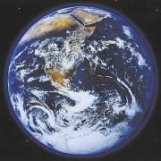 Die Erde, von einem Satelliten aus fotografiert.