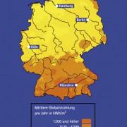 Sonneneinstrahlung in Deutschland pro Jahr