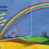 Einen Regenbogen sieht man immer unter einem bestimmten Winkel zum einfallenden Sonnenlicht.