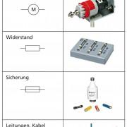 Bauteile, die in elektrischen Stromkreisen häufig genutzt werden
